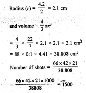 ML Aggarwal Class 10 Solutions for ICSE Maths Chapter 18 Mensuration Chapter Test Q17.1