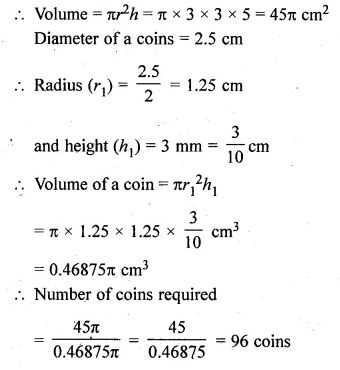 ML Aggarwal Class 10 Solutions for ICSE Maths Chapter 18 Mensuration Chapter Test Q18.1