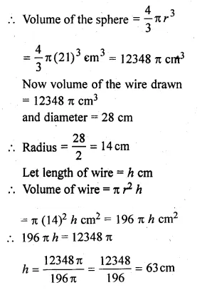 ML Aggarwal Class 10 Solutions for ICSE Maths Chapter 18 Mensuration Chapter Test Q21.1