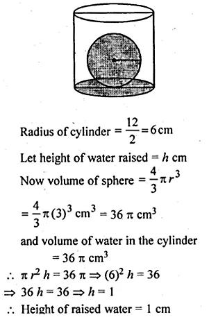 ML Aggarwal Class 10 Solutions for ICSE Maths Chapter 18 Mensuration Chapter Test Q22.1