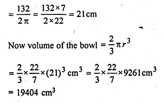 ML Aggarwal Class 10 Solutions for ICSE Maths Chapter 18 Mensuration Chapter Test Q5.1