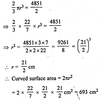 ML Aggarwal Class 10 Solutions for ICSE Maths Chapter 18 Mensuration Chapter Test Q6.1