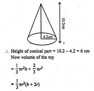 ML Aggarwal Class 10 Solutions for ICSE Maths Chapter 18 Mensuration Chapter Test Q7.1