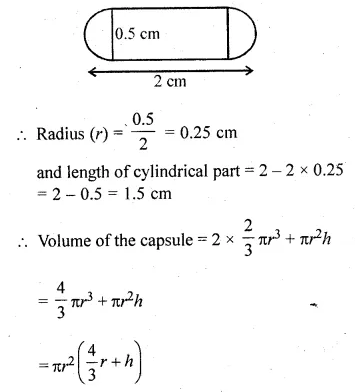 ML Aggarwal Class 10 Solutions for ICSE Maths Chapter 18 Mensuration Chapter Test Q8.1