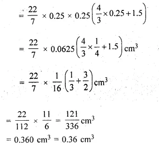 ML Aggarwal Class 10 Solutions for ICSE Maths Chapter 18 Mensuration Chapter Test Q8.2