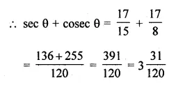 ML Aggarwal Class 10 Solutions for ICSE Maths Chapter 19 Trigonometric Identities Chapter Test Q1.4