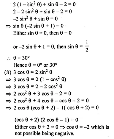 ML Aggarwal Class 10 Solutions for ICSE Maths Chapter 19 Trigonometric Identities Chapter Test Q16.1
