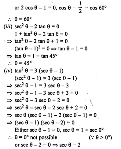 ML Aggarwal Class 10 Solutions for ICSE Maths Chapter 19 Trigonometric Identities Chapter Test Q16.2