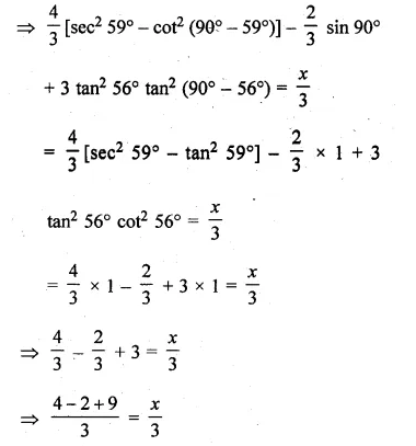 ML Aggarwal Class 10 Solutions for ICSE Maths Chapter 19 Trigonometric Identities Chapter Test Q3.1