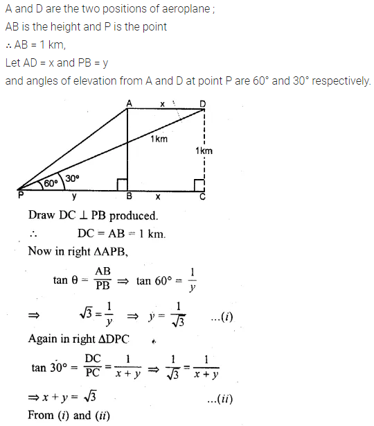 ML Aggarwal Class 10 Solutions for ICSE Maths Chapter 21 Heights and Distances Chapter Test Q7.1