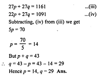 ML Aggarwal Class 10 Solutions for ICSE Maths Chapter 23 Measures of Central Tendency Chapter Test Q13.3