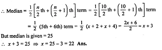 ML Aggarwal Class 10 Solutions for ICSE Maths Chapter 23 Measures of Central Tendency Chapter Test Q14.1