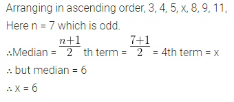 ML Aggarwal Class 10 Solutions for ICSE Maths Chapter 23 Measures of Central Tendency Chapter Test Q15.1