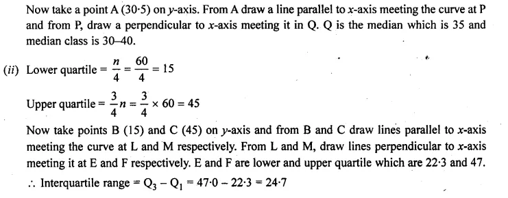 ML Aggarwal Class 10 Solutions for ICSE Maths Chapter 23 Measures of Central Tendency Chapter Test Q21.3