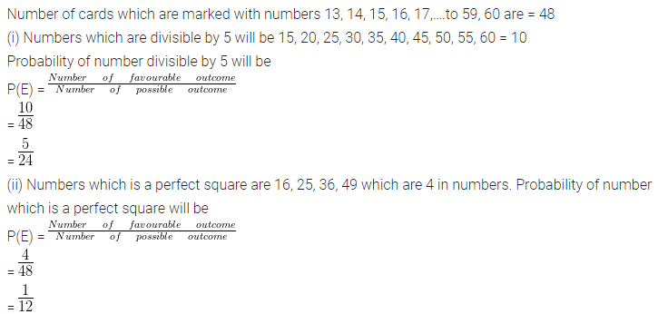 ML Aggarwal Class 10 Solutions for ICSE Maths Chapter 24 Probability Chapter Test Q10.1