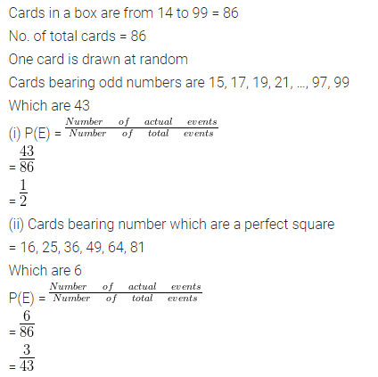 ML Aggarwal Class 10 Solutions for ICSE Maths Chapter 24 Probability Chapter Test Q11.1
