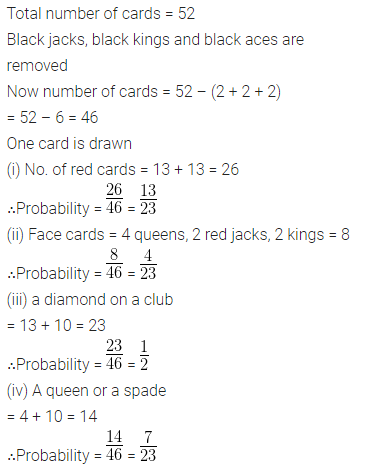 ML Aggarwal Class 10 Solutions for ICSE Maths Chapter 24 Probability Chapter Test Q15.1