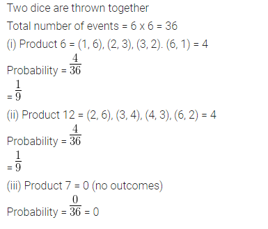 ML Aggarwal Class 10 Solutions for ICSE Maths Chapter 24 Probability Chapter Test Q16.1