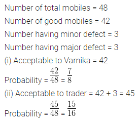 ML Aggarwal Class 10 Solutions for ICSE Maths Chapter 24 Probability Chapter Test Q4.1