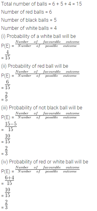 ML Aggarwal Class 10 Solutions for ICSE Maths Chapter 24 Probability Chapter Test Q5.1