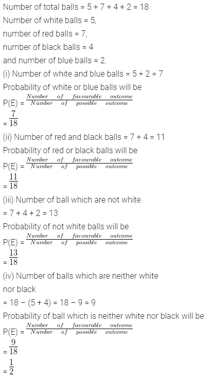 ML Aggarwal Class 10 Solutions for ICSE Maths Chapter 24 Probability Chapter Test Q7.1