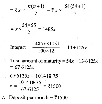 ML Aggarwal Class 10 Solutions for ICSE Maths Chapter 3 Banking Chapter Test Q4.1