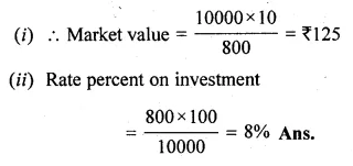 ML Aggarwal Class 10 Solutions for ICSE Maths Chapter 4 Shares and Dividends Chapter Test Q3.1