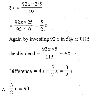 ML Aggarwal Class 10 Solutions for ICSE Maths Chapter 4 Shares and Dividends Chapter Test Q5.1