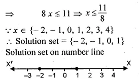 ML Aggarwal Class 10 Solutions for ICSE Maths Chapter 5 Linear Inequations Chapter Test Q1.1