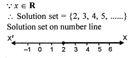 ML Aggarwal Class 10 Solutions for ICSE Maths Chapter 5 Linear Inequations Chapter Test Q3.1