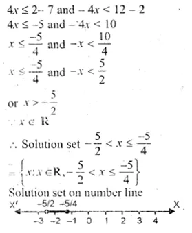 ML Aggarwal Class 10 Solutions for ICSE Maths Chapter 5 Linear Inequations Chapter Test Q6.1