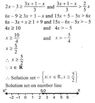 ML Aggarwal Class 10 Solutions for ICSE Maths Chapter 5 Linear Inequations Chapter Test Q7.1