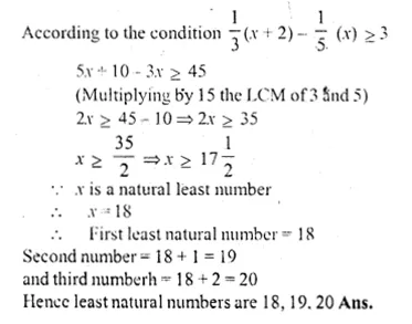 ML Aggarwal Class 10 Solutions for ICSE Maths Chapter 5 Linear Inequations Chapter Test Q9.1