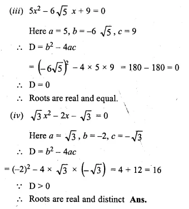 ML Aggarwal Class 10 Solutions for ICSE Maths Chapter 6 Quadratic Equations in One Variable Chapter Test Q10.2