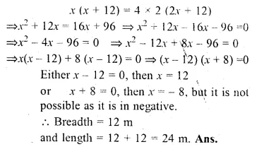 ML Aggarwal Class 10 Solutions for ICSE Maths Chapter 6 Quadratic Equations in One Variable Chapter Test Q18.1