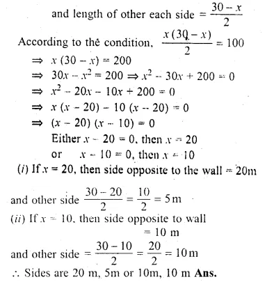 ML Aggarwal Class 10 Solutions for ICSE Maths Chapter 6 Quadratic Equations in One Variable Chapter Test Q19.1