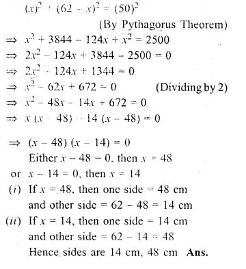 ML Aggarwal Class 10 Solutions for ICSE Maths Chapter 6 Quadratic Equations in One Variable Chapter Test Q21.1