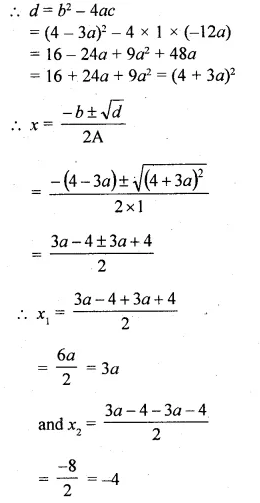 ML Aggarwal Class 10 Solutions for ICSE Maths Chapter 6 Quadratic Equations in One Variable Chapter Test Q8.1