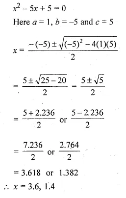 ML Aggarwal Class 10 Solutions for ICSE Maths Chapter 6 Quadratic Equations in One Variable Chapter Test Q9.1