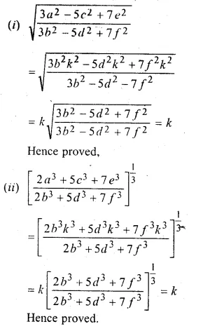 ML Aggarwal Class 10 Solutions for ICSE Maths Chapter 8 Ratio and Proportion Chapter Test Q13.1