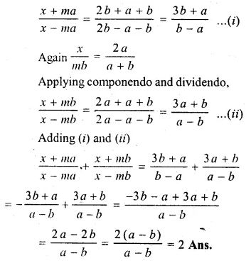 ML Aggarwal Class 10 Solutions for ICSE Maths Chapter 8 Ratio and Proportion Chapter Test Q19.1