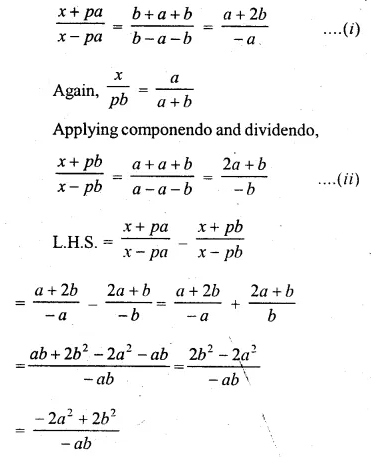 ML Aggarwal Class 10 Solutions for ICSE Maths Chapter 8 Ratio and Proportion Chapter Test Q20.1