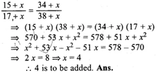 ML Aggarwal Class 10 Solutions for ICSE Maths Chapter 8 Ratio and Proportion Chapter Test Q7.1