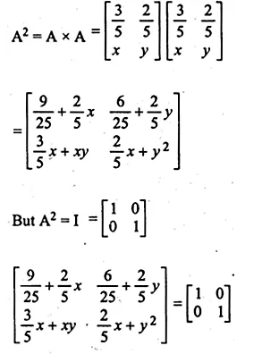 ML Aggarwal Class 10 Solutions for ICSE Maths Chapter 9 Matrices Chapter Test Q10.1