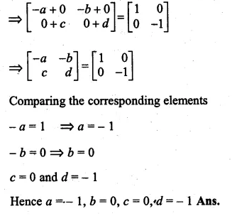 ML Aggarwal Class 10 Solutions for ICSE Maths Chapter 9 Matrices Chapter Test Q11.1