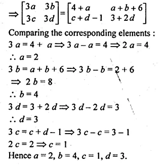 ML Aggarwal Class 10 Solutions for ICSE Maths Chapter 9 Matrices Chapter Test Q2.1