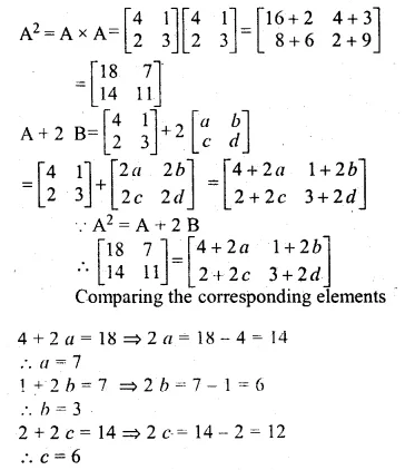 ML Aggarwal Class 10 Solutions for ICSE Maths Chapter 9 Matrices Chapter Test Q5.1