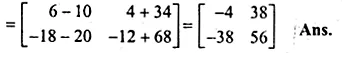 ML Aggarwal Class 10 Solutions for ICSE Maths Chapter 9 Matrices Chapter Test Q5.3