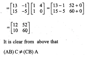 ML Aggarwal Class 10 Solutions for ICSE Maths Chapter 9 Matrices Chapter Test Q6.2