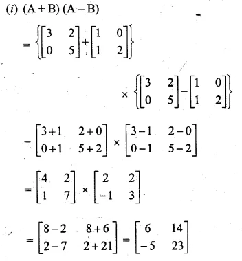 ML Aggarwal Class 10 Solutions for ICSE Maths Chapter 9 Matrices Chapter Test Q7.1